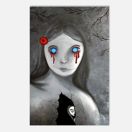 bleeding eyes empty soul  Postcards (Package of 8)