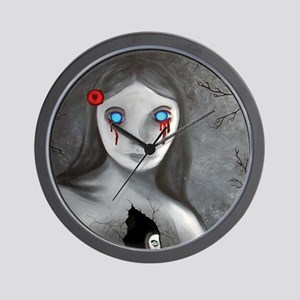 bleeding eyes empty soul gothic vintage Wall Clock