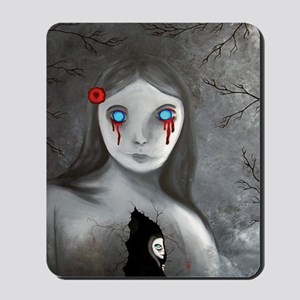 bleeding eyes empty soul gothic vintage  Mousepad