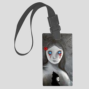 bleeding eyes empty soul gothic  Large Luggage Tag