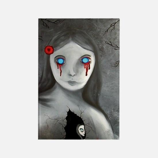 bleeding eyes empty soul gothic v Rectangle Magnet
