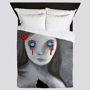 bleeding eyes empty soul gothic vintag Queen Duvet