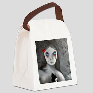 bleeding eyes empty soul gothic v Canvas Lunch Bag