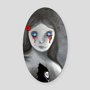 bleeding eyes empty soul gothic vi Oval Car Magnet