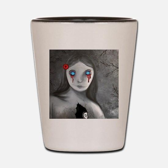bleeding eyes empty soul gothic vintage Shot Glass