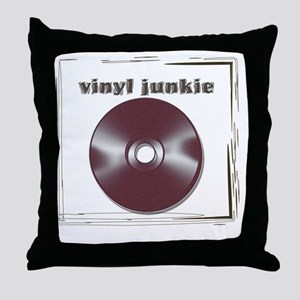 VINYL JUNKIE Throw Pillow