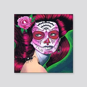 "Sugar Skull MP Square Sticker 3"" x 3"""