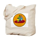 Parents and Child Tote Bag