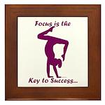Gymnastics Framed Tile - Focus