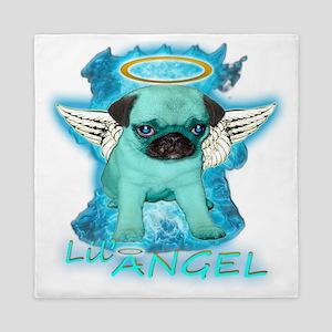 Fiery Lil Angel Pug Queen Duvet