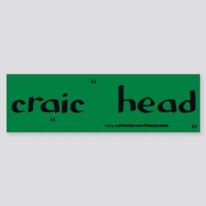 craic head Sticker 3(Bumper)