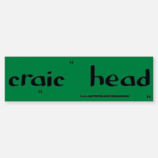 craic head Sticker 3(Bumper)