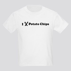 I Eat Potato Chips Kids Light T-Shirt