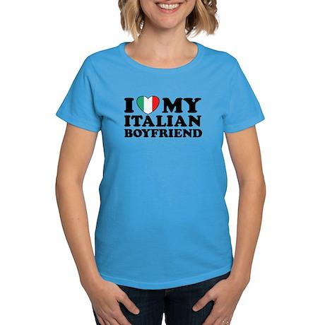 I Love My Italian Boyfriend Women's Dark T-Shirt