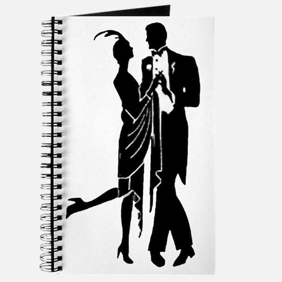 Elegant 1920s Couple Dancing Journal