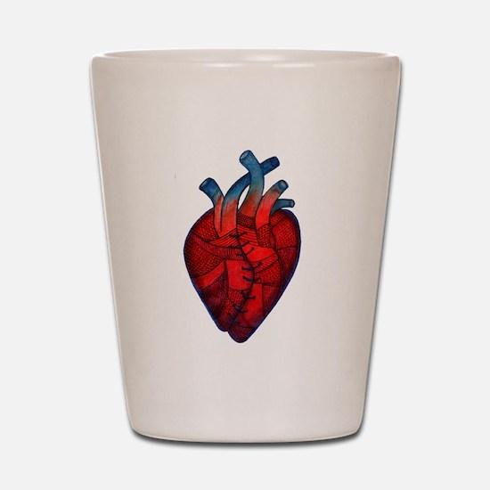 mended heart.jpg Shot Glass
