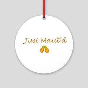 Just Maui'd Pineapple Logo Ornament (Round)