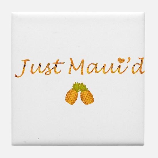 Just Maui'd Pineapple Logo Tile Coaster