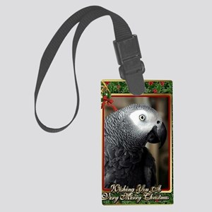 African Grey Parrot Large Luggage Tag