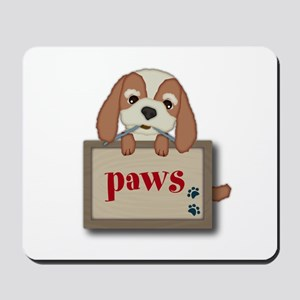 Customisable Cute Puppy Dog with Signboard Mousepa