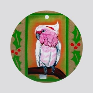 Pink Cockatoo Round Ornament