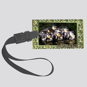 Wood Duck Large Luggage Tag