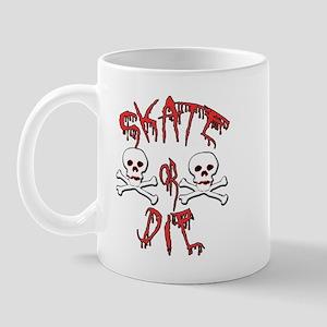 Skate or Die Skulls Mug