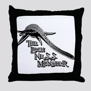 Nessie Grey Throw Pillow