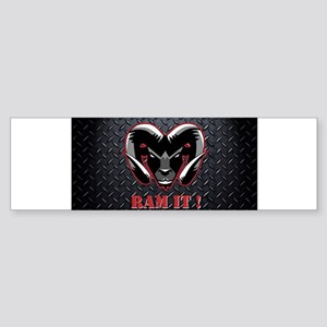 Ram It Diamond Plate Bumper Sticker