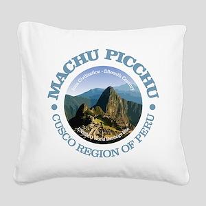 Machu Picchu Square Canvas Pillow