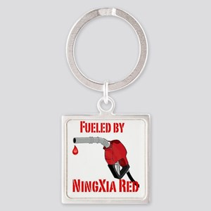 Fueled by Ningxia Red Square Keychain