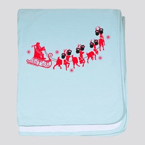 Reindeer Games Small baby blanket