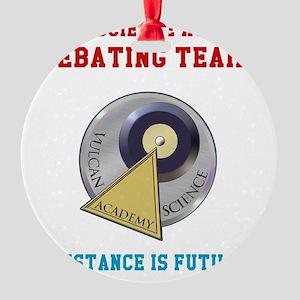 Vulcan Science Academy Debating Tea Round Ornament