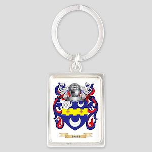 Babb Coat of Arms Portrait Keychain