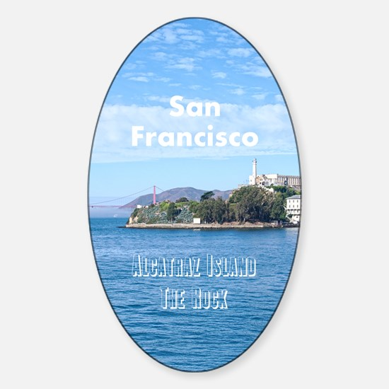 SanFrancisco_5.5x8.5_Journal_Alcatr Sticker (Oval)