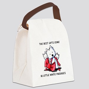 Westie Gift Canvas Lunch Bag