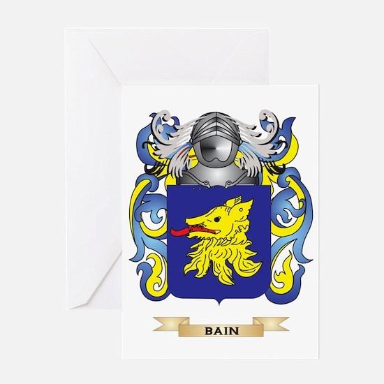 Bain Coat of Arms Greeting Card