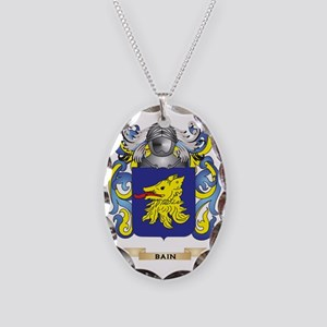 Bain Coat of Arms Necklace Oval Charm