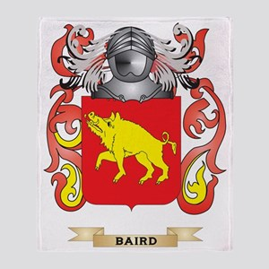 Baird Coat of Arms Throw Blanket