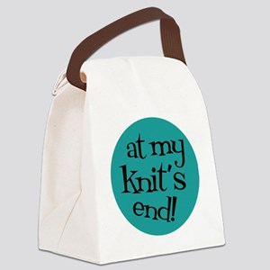 Knit Sassy - At my knit's end! Canvas Lunch Bag