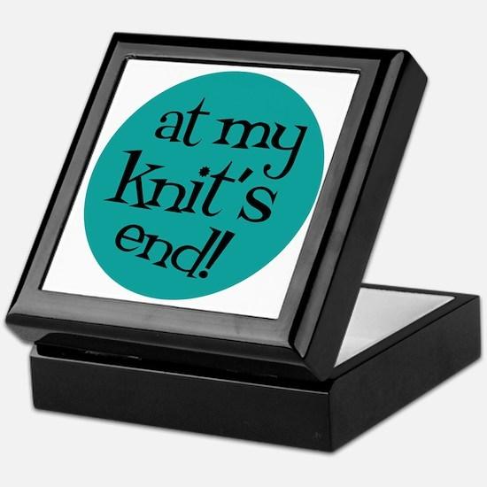 Knit Sassy - At my knit's end! Keepsake Box