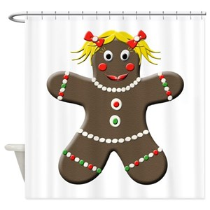 Christmas Gingerbread Shower Curtains
