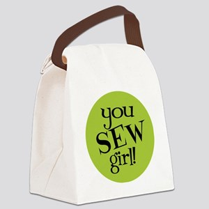 Sew Sassy - You Sew Girl Canvas Lunch Bag