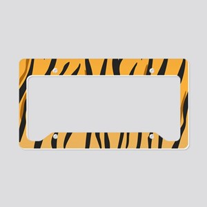 Tiger Stripes License Plate Holder