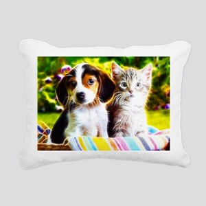 Fur Buddys fractal 2 Rectangular Canvas Pillow