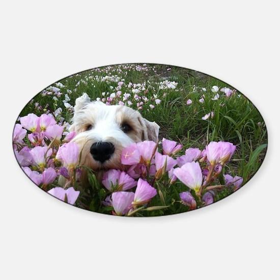 flower dobby Sticker (Oval)