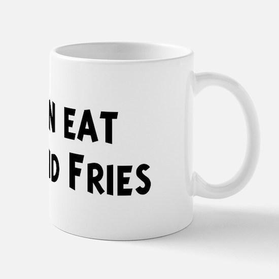 Men eat Burger And Fries Mug