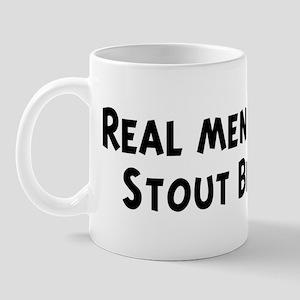 Men eat Stout Beer Mug