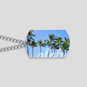 Aloha Palm Trees Dream Dog Tags