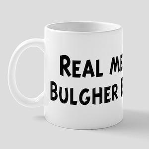 Men eat Bulgher Burgers Mug